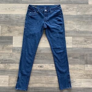 [3 for $30] William Rast Zip Skinny Blue Jeans